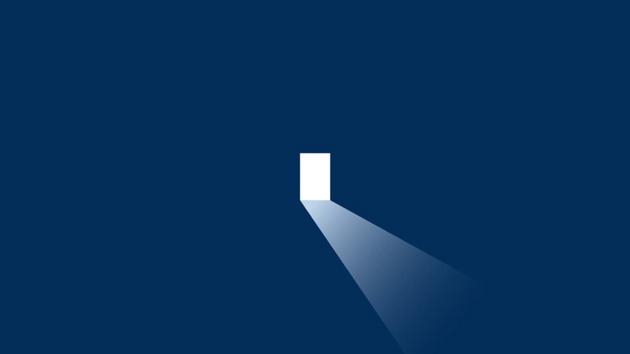 immagine della metafora della porta nel video Alfa Sistemi