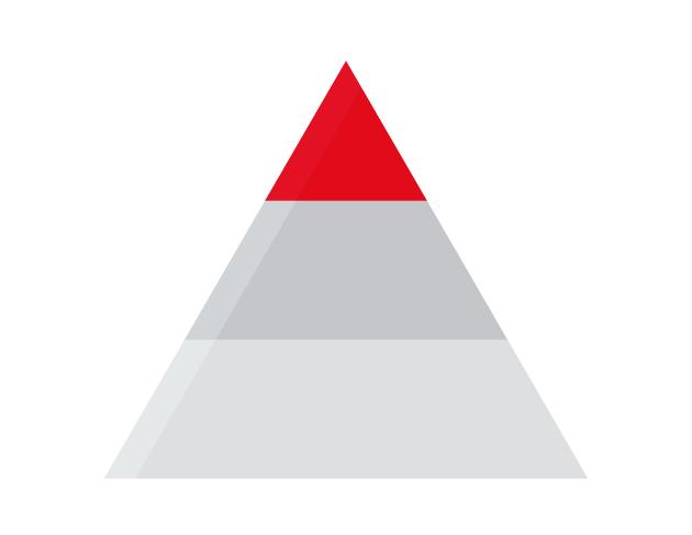 piramide utilizzata per rappresentare i diversi tipi di classificazione Oracle Partner