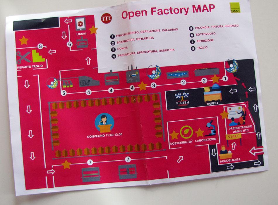 comunicazione: mappa della visita in Dani spa