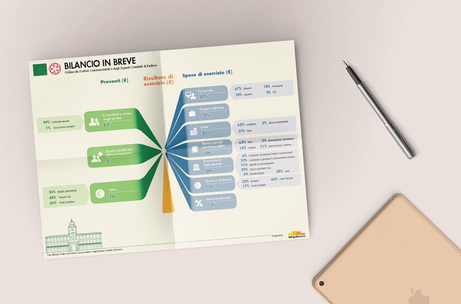 Infografica - dati di Bilancio per un Ordine professionale