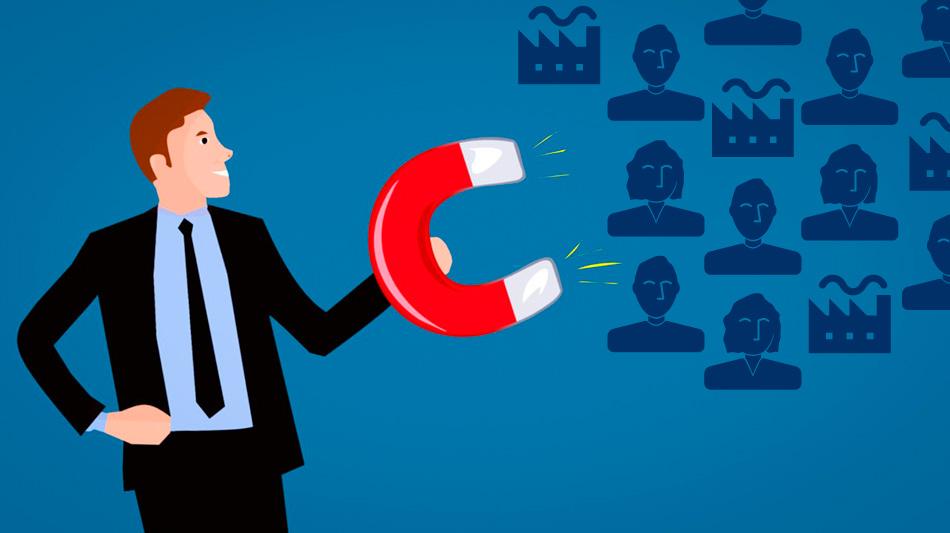 Comunicazione-nelle-professioni-Illustrazione-calamita-clienti-fabbriche