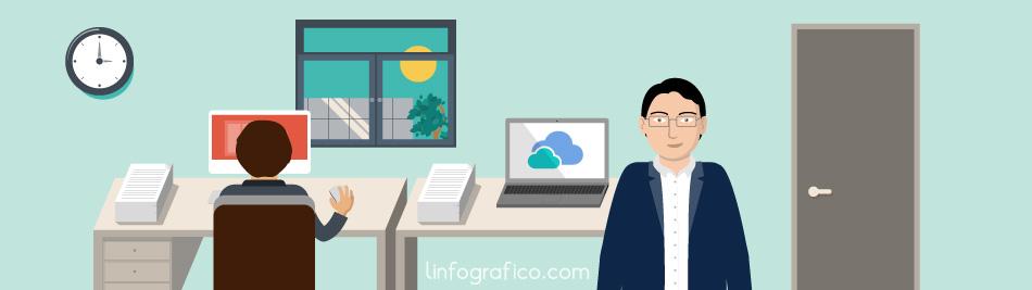 illustrazione tratta da un nostro video che rappresenta lo studio di un commercialista